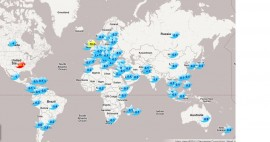 LinguaGreca's Twitter Followers Map