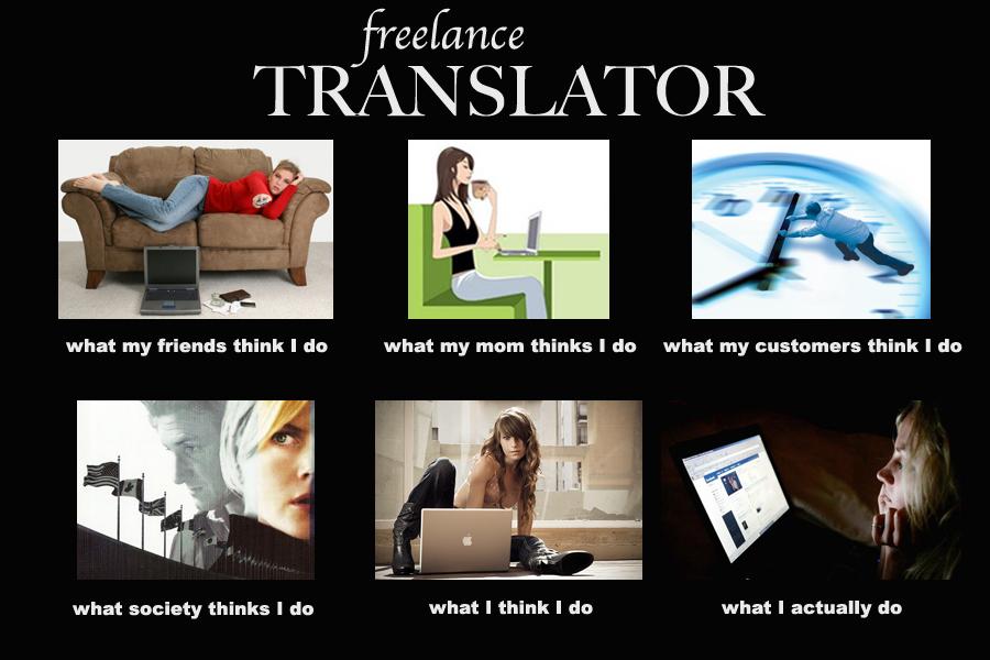 Freelance translator meme