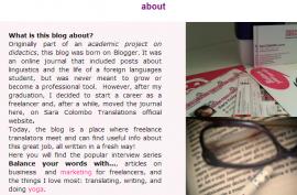 Balance Your Words blog screenshot