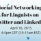 Social Networking for Linguists