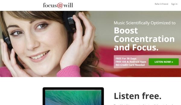 focus@will app screenshot