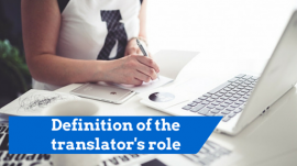 Definition of translator's role