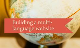 Building a multi-language website